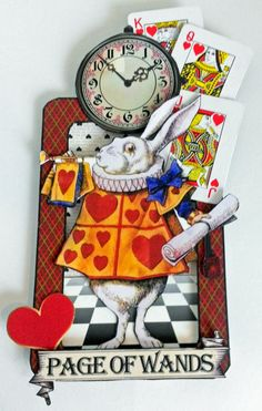 Page of Wands - Alice in Wonderland Tarot Cards, Wonderland Scene, New Collage Sheets and Digital Image Set Alice In Wonderland Crafts, Alice In Wonderland Illustrations, Alice In Wonderland Birthday, Adventures In Wonderland, Wonderland Party, Mad Hatter Party, Mad Hatter Tea, Mad Hatters, Atc Cards