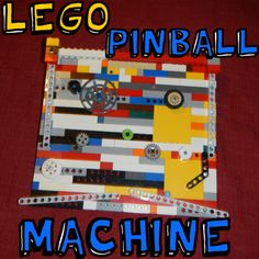 How to Make Lego Pinball Machines with Step by Step Instructions - now this is cool! I wonder if we have enough bits!