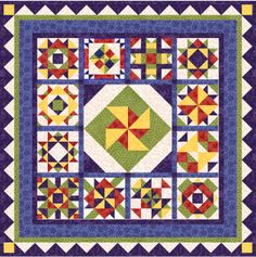 Patchwork Panache - 2007 Block of the Month patterns - free