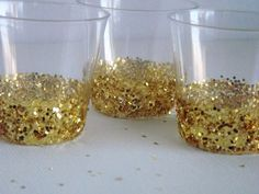 24 Gold Sparkle Party Shot Glasses by RepublicOfParty on Etsy
