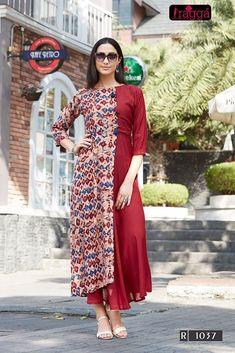 #brown #colourful #print  #rayon #kurti | brown colourful kurti | printed rayon kurti | rayon fabric | fancy wear | casual wear |