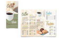 Coffee Shop Take-out Brochure Design Template by StockLayouts