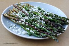 Mango & Tomato: Pan Roasted Asparagus with Queso Fresco