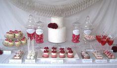 Pink & White Desert Table