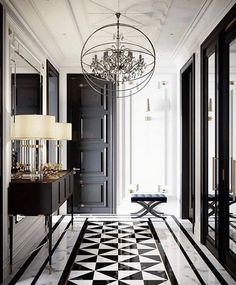 hallway decorating 756393699902581426 - beautiful hallway lighting decoration ideas – Page 3 — decoration Source by usamagazine Classic Interior, Luxury Interior, Decor Interior Design, Interior Decorating, Interior Modern, Interiores Art Deco, Decoration Entree, Decoration Ikea, Hallway Decorating