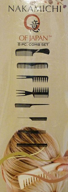 Nakamichi 8 Piece Professional Styling Comb Set in LIGHT SAGE OR OLIVE GREEN High Quality Strong and Durable Combs and Picks -- This is an Amazon Affiliate link. Read more reviews of the product by visiting the link on the image.