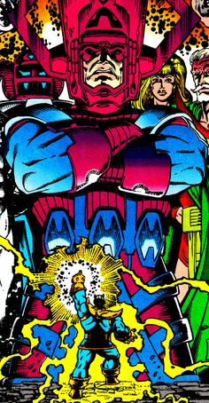 "The Infinity Gauntlet #5 (November 1991)""Astral Conflagration""Cover Art by Ron Lim & George Perez"
