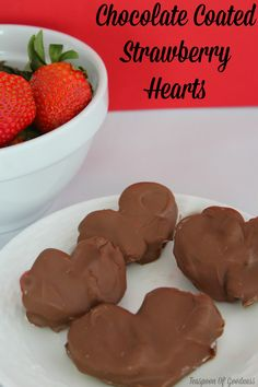 Heart Shaped Chocolate Covered Strawberries Recipe - Teaspoon Of Goodness