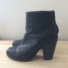 Rag & Bone Newbury Boots Rag & Bone black leather Newbury boots. Size 36.5. Pre-loved. rag & bone Shoes