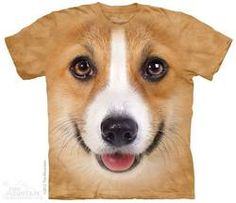 The Corgi Face t-shirt is quite possibly the coolest corgi t-shirt you'll ever see. With summer right around the corner, harness your inner corgi love and rock the coolest t-shirt ever. This Product P Corgi Dog, Pet Dogs, Dogs And Puppies, Westie Puppies, 3d Dog, Big Face, Pembroke Welsh Corgi, Animal Pillows, Dog Pillows