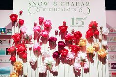 Paper Flower Display at Snow & Graham's booth via Oh So Beautiful Paper: National Stationery Show 2013, Part 2