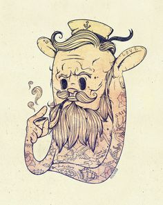 """Hello Sailor!!"" Art Print by Mike Koubou on Society6."