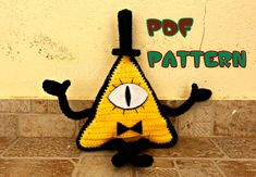 CROCHET-PATTERN: Evil Triangle inspired by Bill Cipher (Gravity Falls) Amigurumi ~ **Instructions Only**
