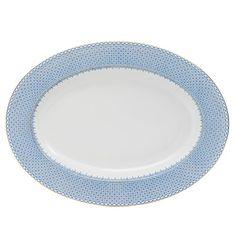 Mottahedeh Platter, Cornflower Lace
