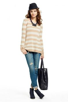 Risi Stripe Crewneck Cashmere Sweater