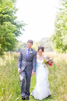 A Homemade and Colourful Wild Meadow Summer Wedding