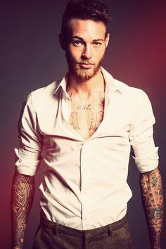 Tattoos... check! Beard... check!  Right this way, sir ;)