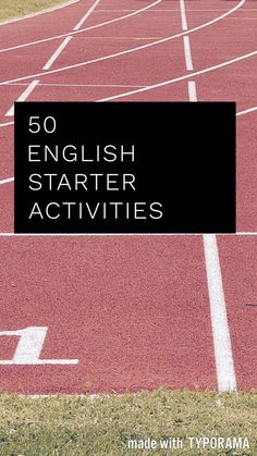 50 minimal preparation starter activities for the GCSE English classroom. Ideas for both language and literature.  || Ideas, activities and revision resources for teaching GCSE English || Check out my website  www.gcse-english.com for more ideas and inspi