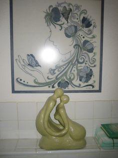 geborduurd schilderij van Janny en mijn beeld,   Jet van Delft
