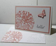 Stampin' Up! Regarding Dahlia's Boxed Notecards Crisp Cantaloupe Card & Envelope click card for my special Birthday Offer