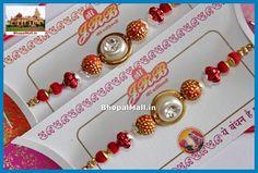 1No Beautiful Stone Beads Rakhi Raksha Bandhan+RoliChawal Tika BM0003