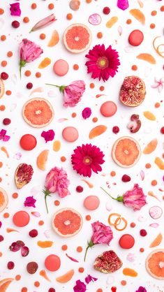 Shades of Pink coral floral foodie  iphone phone wallpaper background lock screen