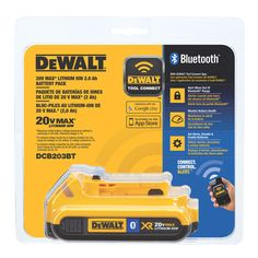 DCB203BT <p>20V MAX Compact Battery with Bluetooth</p> | DEWALT Tools