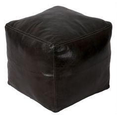Moroccan Leather Square Pouf Ottoman Color: Cafe Noir - http://delanico.com/ottomans/moroccan-leather-square-pouf-ottoman-color-cafe-noir-588985221/