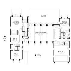 TheHouseDesigners-5173 Construction-Ready House Plan with Crawl Space Foundation (5 Printed Sets) - Walmart.com - Walmart.com U Shaped House Plans, U Shaped Houses, Home Building Kits, Building A House, Crawl Space Foundation, Foundation 5, Baths Interior, Construction Documents, Architectural House Plans