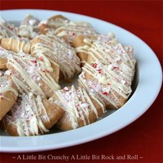 A Little Bit Crunchy A Little Bit Rock and Roll: Peppermint Shortbread Squares