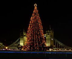 Christmas tree in London.