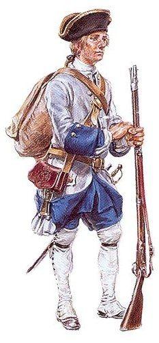 Soldat des compagnies franches de la marine du Canada, 1757-1760