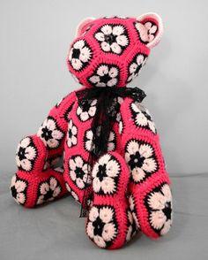 African Flower Bear - Crochet