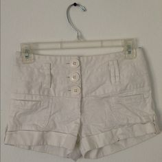 White Hight Waisted Shorts High at the waist. Fits a size 3 Shorts