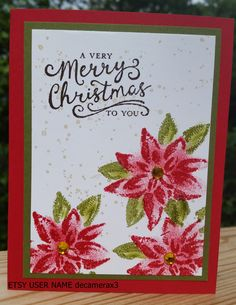 STAMPIN' UP Reason For The Season, Handmade CHRISTMAS Card kit by decamerax3 on Etsy