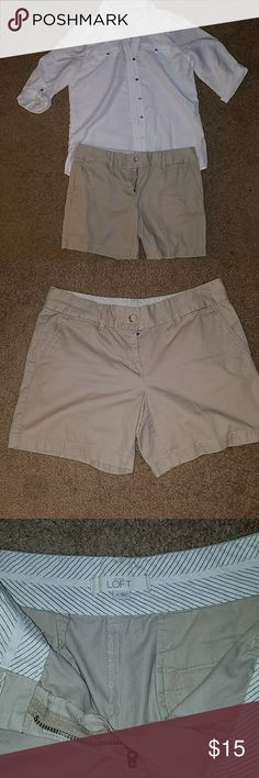 Cyber Sale 🍁Khaki shorts Ann Taylor Loft, 100% cotton, khaki shorts Shorts