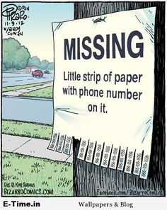 Missing Strip Of Paper