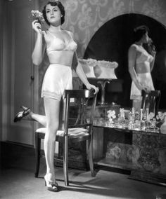 View top-quality stock photos of Woman In Brassiere Panties At Her Mirror. Find premium, high-resolution stock photography at Getty Images. French Lingerie, Retro Lingerie, Lingerie Set, Lingerie Heels, Lingerie Photos, Vintage Beauty, Vintage Fashion, Vintage Dressing Tables, Old Hollywood Style
