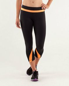 5941776764 Grayson large lululemon black friday 2013 Athletica Yoga Run Inspire Crop  II Black Creamsicle Pop-lulu lemon yoga pants black friday