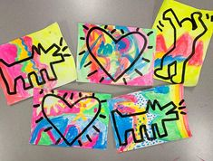 Art Lessons For Kids, Art Lessons Elementary, Art For Kids, Kid Art, Keith Haring Art, Kindergarten Art Projects, Artist Project, Pebble Painting, Painting Art