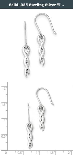 Solid .925 Sterling Silver White Ice .04ct. Diamond Twist Earrings 38x12mm. Material: Primary - Purity:925|Stone Type_1:Diamond|Length of Item:38 mm|Stone Weight_1:0.040 ctw (total weight)|Feature:Solid|Manufacturing Process:Casted|Material: Primary:Sterling Silver|Width of Item:12 mm|Product Type:Jewelry|Jewelry Type:Earrings|Sold By Unit:Pair|Material: Primary - Color:White|Earring Closure:French Wire|Earring Type:Drop & Dangle|Stone Creation Method_1:Natural.