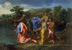 The Baptism Of Christ  Nicolas Poussin  |  #524 of 6304