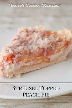 Warm or cold, topped with ice cream or whipped cream, streusel topped peach pie is the perfect fall dessert for any day of the week!