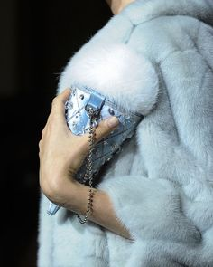 """jai-by-joshua: """" mulberry-cookies: """"'Ice cream' bag with Fox Fur & Crystal Embellished Cone @ Ulyana Sergeenko Haute Couture F/W 2015 """" My old account ^^^^ mulberry-cookies was HACKED. Fur Fashion, Fashion Details, Fashion Bags, Fashion Accessories, Couture Fashion, Fashion Trends, Cream Bags, Ulyana Sergeenko, Fur Bag"""