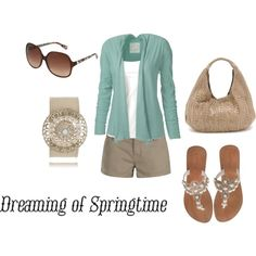 I love cardigans :) spring, created on Polyvore