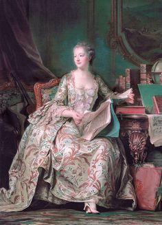 Madame de Pompadour, por Quentin de la Tour (pastel, hacia 1750).