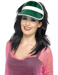 This sun visor is a perfect accessory for a fun-filled retro party. It can be combined with both workout clothes or the great camping clothes. Sun Visor Hat, Visor Hats, Fancy Dress Accessories, Costume Accessories, 80s Workout Clothes, 1980s Fancy Dress, Retro Party, Camping Outfits, Pink Plastic