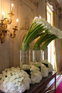 Parisian chic by Jeff Leatham. Definition of a perfect wedding. Parisian chic by Jeff Leatham. Definition of a perfect wedding. Hotel Flower Arrangements, Flower Centerpieces, Flower Decorations, Wedding Centerpieces, Wedding Decorations, Table Decorations, Hotel Flowers, Giant Flowers, Table Flowers