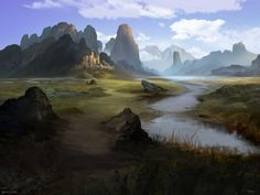 Series of landscape environment i did during my days in Polywick Studio. Landscape Concept, Fantasy Landscape, Landscape Art, Landscape Paintings, Landscapes, Fantasy Male, Fantasy Rpg, Fantasy World, Landscape Drawings