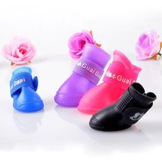 High Quality 4Pcs/ Lot Dog Shoes Dog Candy Colors Boots Waterproof Rubber Pet Rain Shoes Booties Free Shipping #clothing,#shoes,#jewelry,#women,#men,#hats,#watches,#belts,#fashion,#style